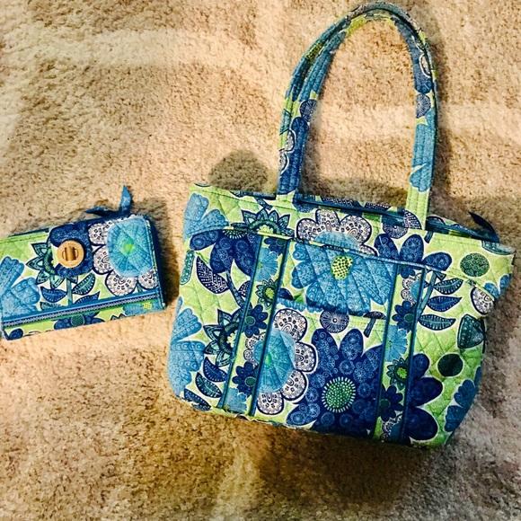 Vera Bradley Handbags - Never used matching Vera Bradley wallet and purse!